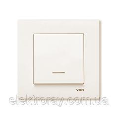 Выключатель с подсветкой крем Viko Karre