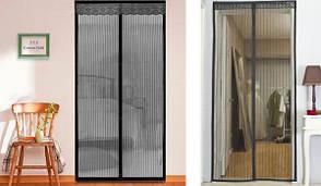 Антимоскитная сетка на магнитах Magic Mesh, магнитная штора от насекомых 100*210, фото 2