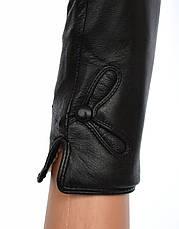 Женские кожаные зимние перчатки на натуральном меху, фото 3