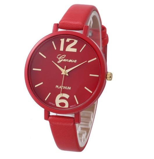 Красные женские часы Geneva