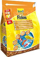 Корм для прудовых рыб Tetra pond flakes 4 л смесь хлопьев для мелких рыб
