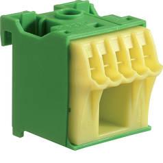 Блок PE-клем, кількість одиниць поділок - 1; ширина - 30мм. 1х16 мм + 5х4 мм