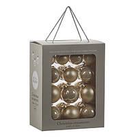 """Елочные шарики 12 шт., """"House of Seasons"""" комплект, цвет золотистый"""