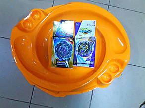 Набор: Beyblade бейблейд Желтая арена+Хейдис, Аматериос
