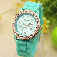 Женские наручные часы Geneva Swarovski мятные