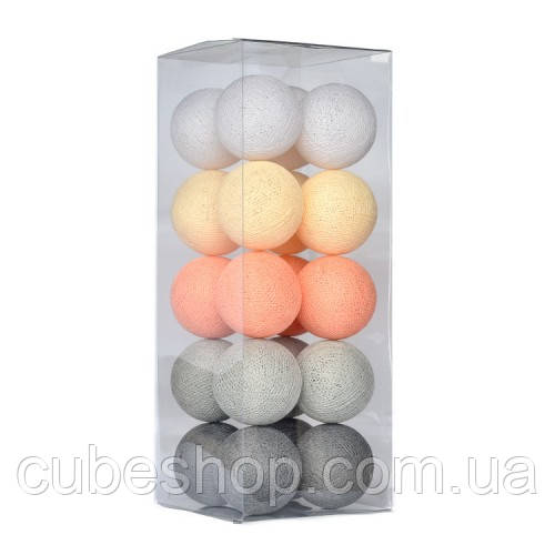 "Тайская LED-гирлянда ""Stone pearls"" (20 шариков) на батарейках"