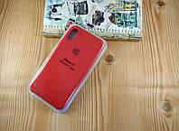 Оригинальный силиконовый чехол для Apple iPhone X / Xs Soft Touch красный