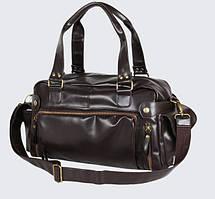 Кожаная мужская сумка (ПУ кожа) Коричневый