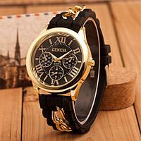 Женские силиконовые часы Женева Черный, фото 1