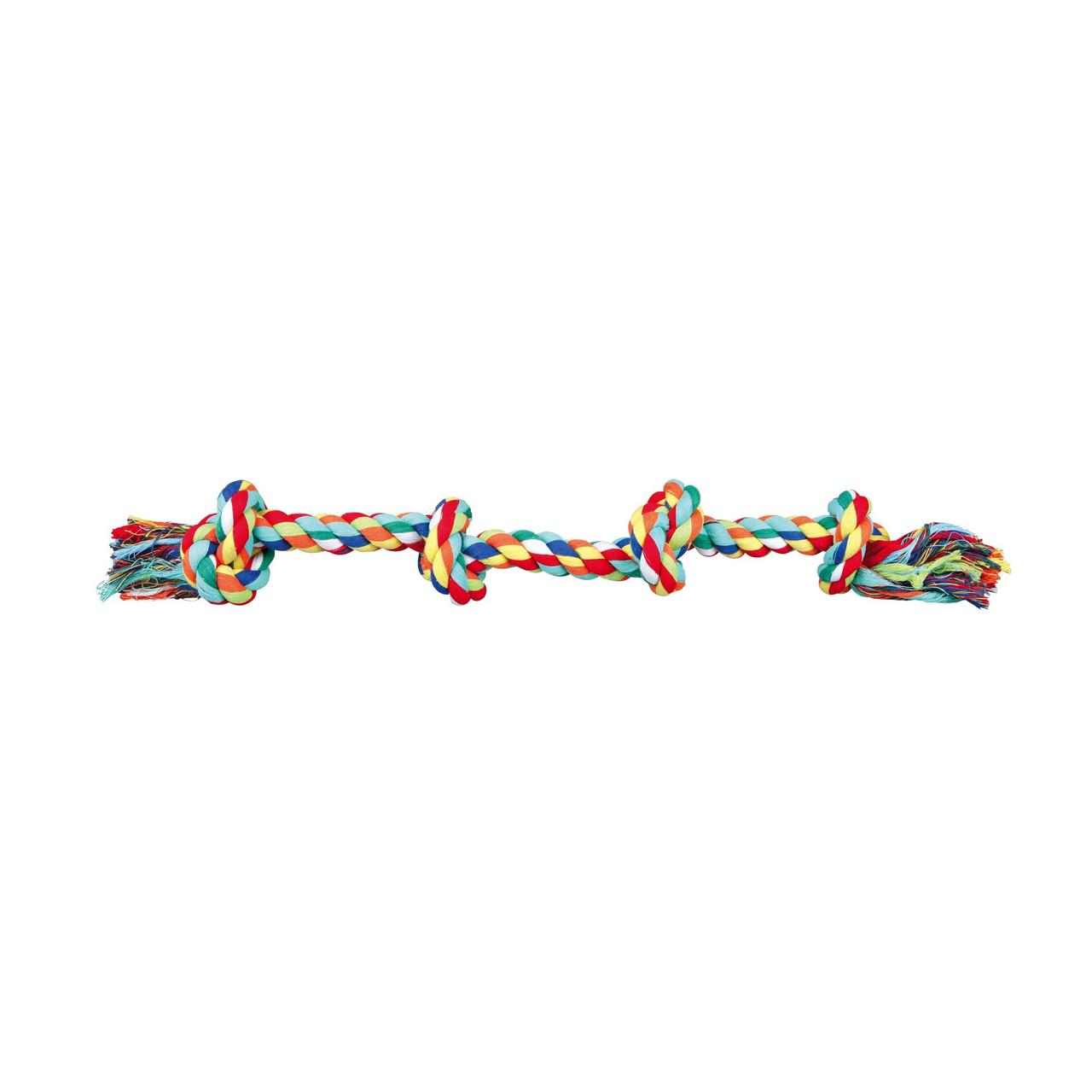 Игрушка для собак Trixie Канат плетёный с узлами 54 см (текстиль, цвета в ассортименте)