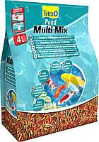 Корм для прудовых рыб Tetra Pond multi mix 4 л пищевая смесь (хлопья, гранулы, таблеток и гаммаруса)