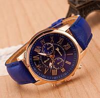 Классические женские часы синие Geneva