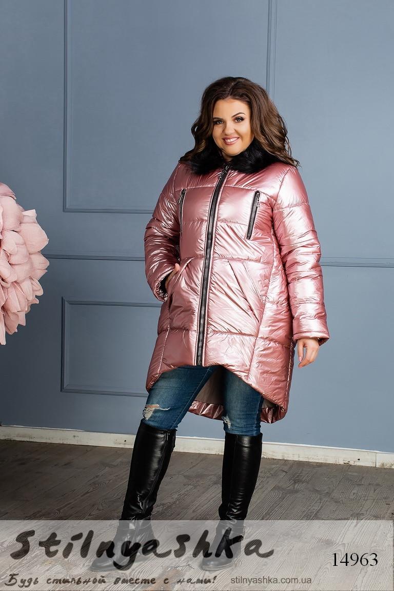 Зимняя большая куртка на синтепоне фрез, фото 1