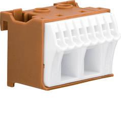 Блок PE-клем, кількість одиниць поділок - 1,5; ширина - 45 мм. 2х16 мм + 8х4 мм