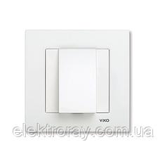 Заглушка для вывода кабеля белая Viko Karre