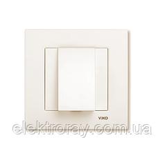 Заглушка для вывода кабеля крем Viko Karre