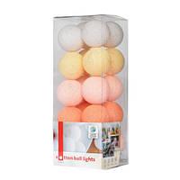 """Тайська LED-гірлянда """"Peach pastel"""" (10 кульок) на батарейках"""