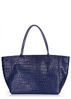 Кожаная сумка POOLPARTY Desire caiman-blue, фото 1