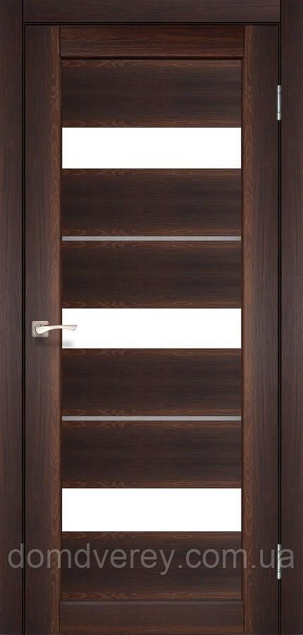 Двери межкомнатные,Korfad, Porto Deluxe, PD-12, со стеклом сатин белым +стекло цвета алюминий