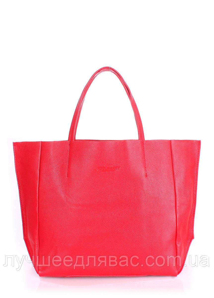 Кожаная сумка POOLPARTY Soho red, фото 1