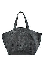 Кожаная сумка POOLPARTY fiore-croco-black, фото 1