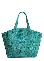 Кожаная сумка POOLPARTY fiore-crocodile-green, фото 1