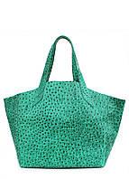 Кожаная сумка POOLPARTY fiore-struzzo-green