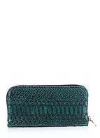 Кожаный кошелек POOLPARTY  snake-wallet-green