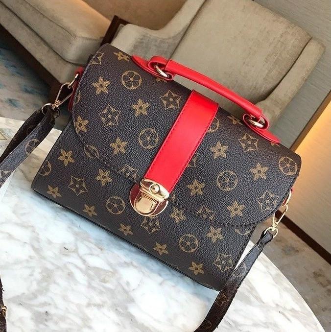 Женская сумка в стиле Луи Витон Красный