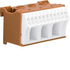 Блок PE-клемм, кол-во единиц деления - 2; ширина - 60 мм. 3х16 мм + 11х4 мм, фото 2