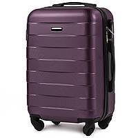 Малый пластиковый чемодан Wings 401 на 4 колесах фиолетовый
