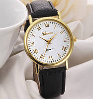 Молодежные женские часы Geneva черные