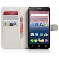 Чехол-книжка Litchie Wallet для Alcatel One Touch Pop 3 5025D (5.5) Белый