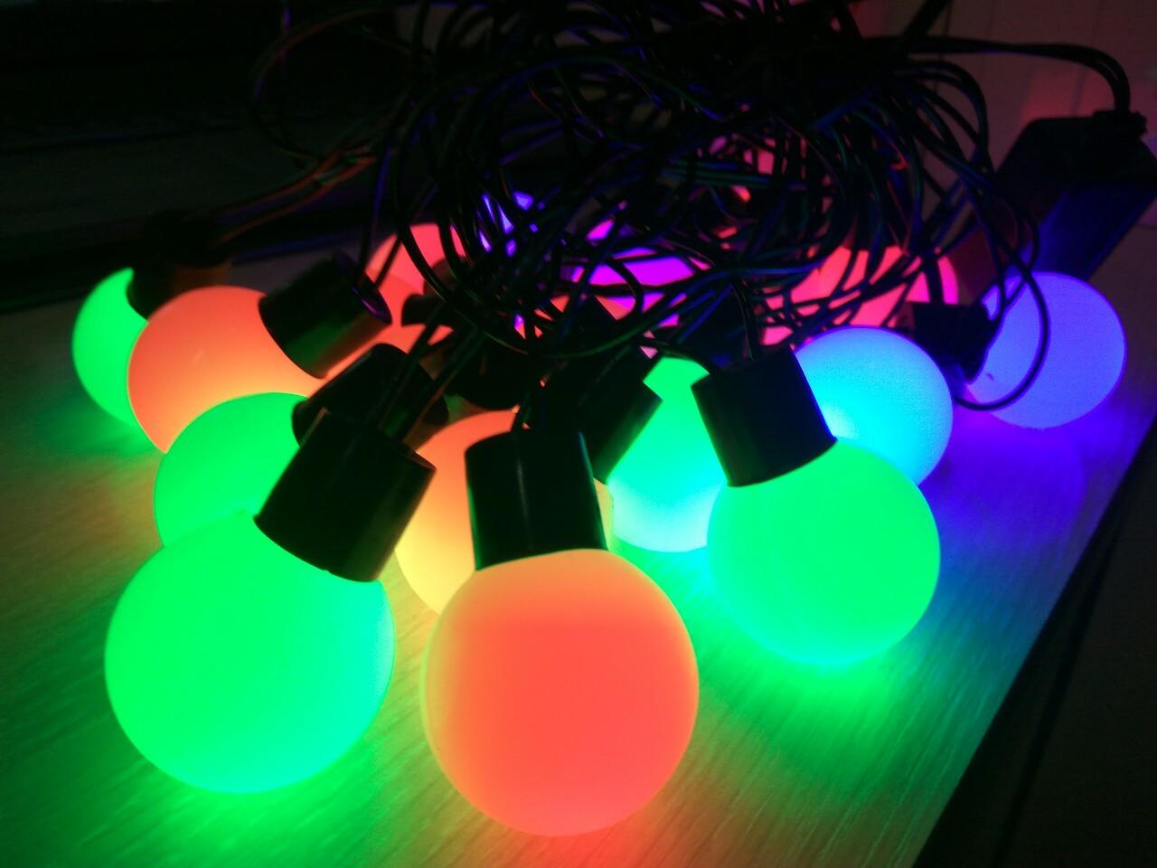Гирлянда 20 led 2-х цвет color объемная шар LED 20 M BIG
