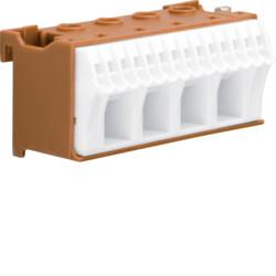 Блок PE-клемм, кол-во единиц деления - 2,5; ширина - 60 мм. 4х16 мм + 14х4 мм