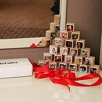 Подарок девушке, маме, жене, другу, подруге, фото кубики InstaCubesa
