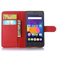 Чехол-книжка Litchie Wallet для Alcatel OneTouch 5015D POP 3 (5.0) Красный