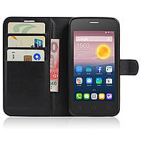 Чохол-книжка Litchie Wallet для Alcatel One Touch Pixi 4 5010D (5.0) Чорний