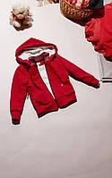 Тепла дитяча кофта на блискавці унісекс з двонитки в різних кольорах з флісом Кофта детская теплая флис