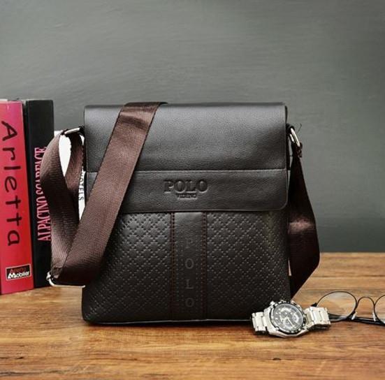 Мужская сумка планшет POLO черная