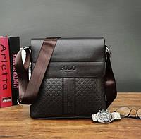 Мужская сумка планшет POLO черная, фото 1