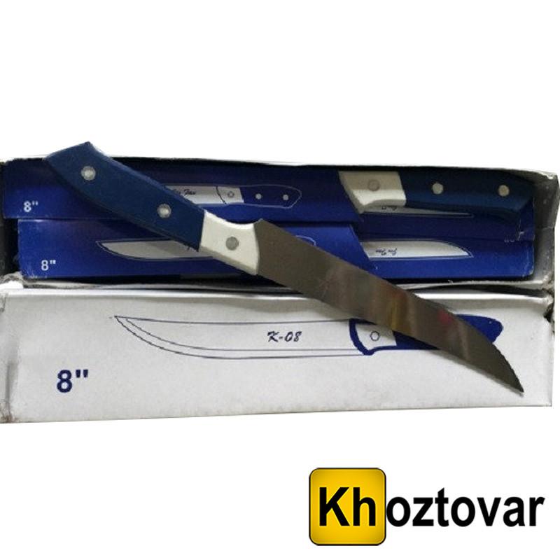 Нож кухонные с бело синей №8