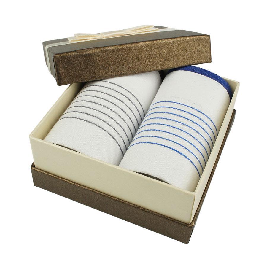 Набор светлых носовых платков в подарочной упаковке для мужчин EGA 2 шт CH-760/2 С
