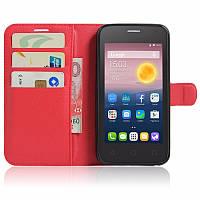 Чехол-книжка Litchie Wallet для Alcatel One Touch Pixi 4 5010D (5.0) Красный