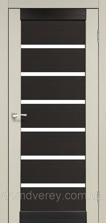Двери межкомнатные,Korfad, Porto Combi Color, PC-02, со стеклом сатин белым