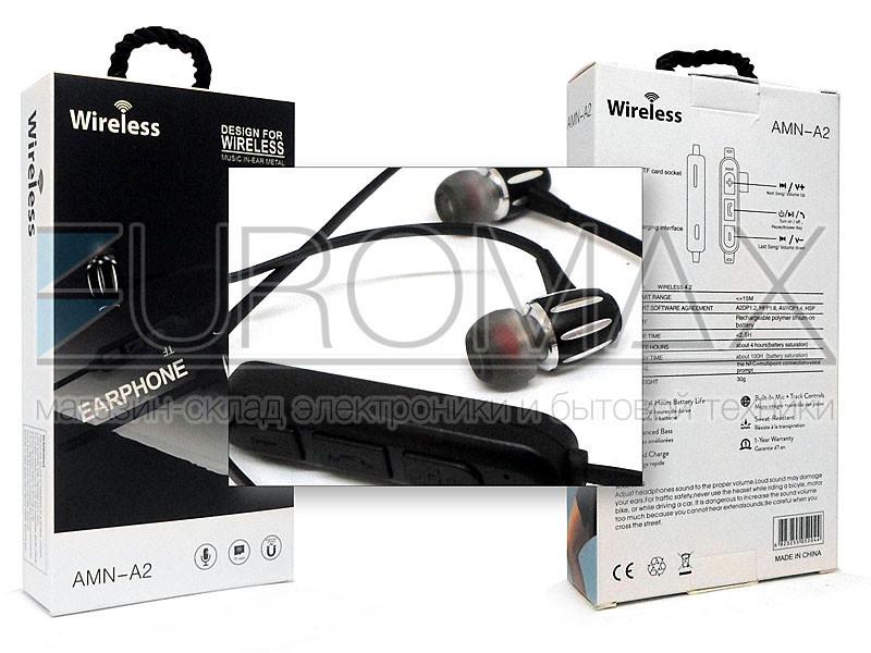 Наушники вакуумные с микрофоном Bluetooth 200шт A2
