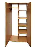 Шкаф для одежды и книг 2-дверный (0636)