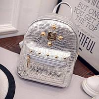 Блестящий женский рюкзак маленький