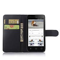 Чехол-книжка Litchie Wallet для Alcatel Pixi 3 4027D (4.5) Черный