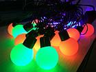 Гирлянда 20 led 2-х цвет color объемная шар LED 20 M BIG, фото 5